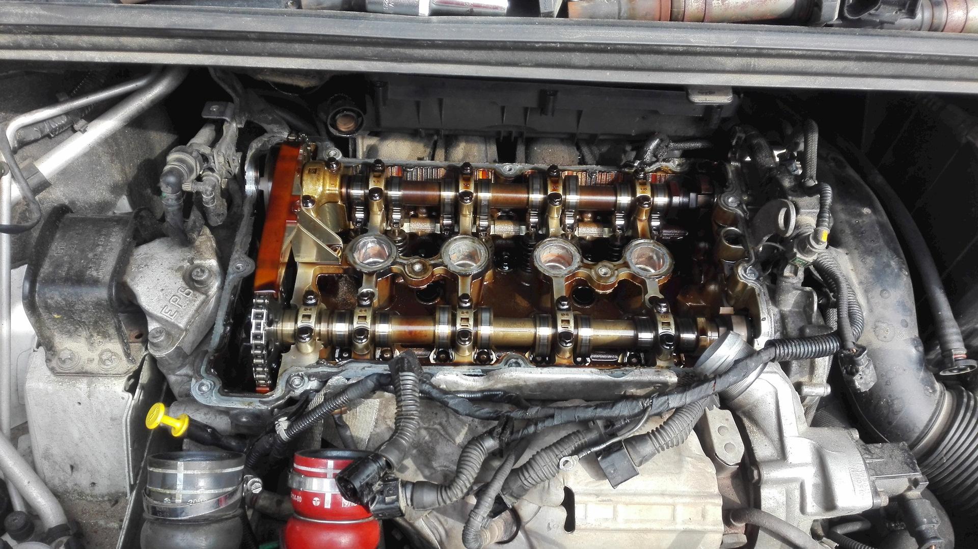 Замена клапанной крышки Peugeot
