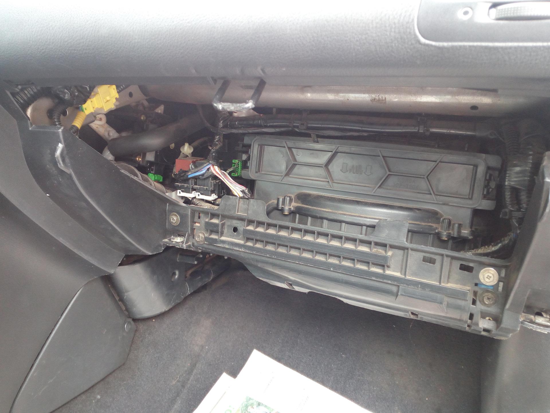 Замена радиатора печки Acura