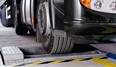 Проверка тормозных усилий на стенде Mercedes