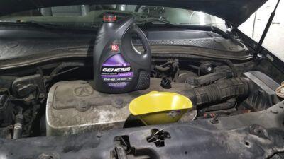 Замена масла в двигателе Acura