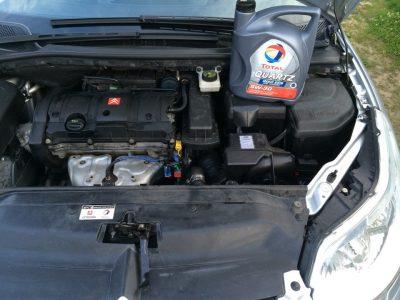 Замена масла в двигателе Citroen