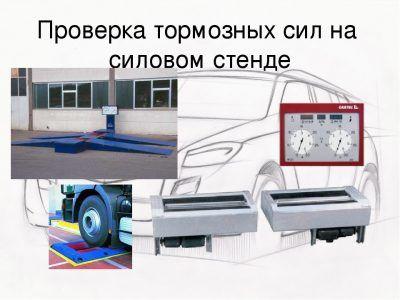 Проверка тормозных усилий на стенде Acura