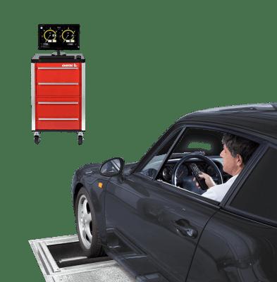 Проверка тормозных усилий на стенде Alfa Romeo