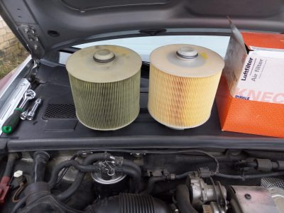 Замена воздушного фильтра Audi