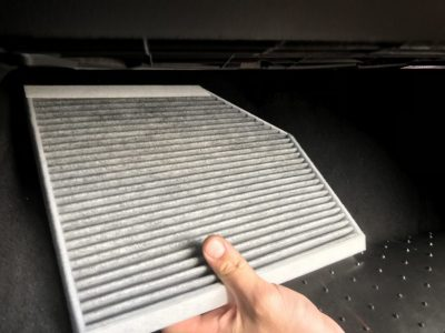 Замена салонного фильтра Audi