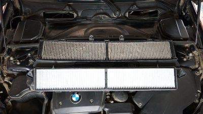 Замена салонного фильтра BMW