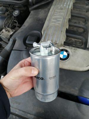 Замена топливного фильтра BMW