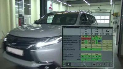 Проверка тормозных усилий на стенде Bentley